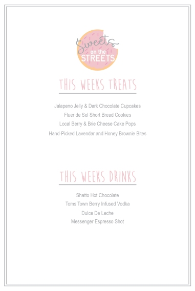 Sweets Menu Template